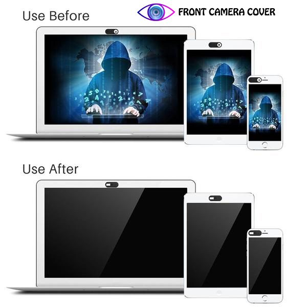 Front Camera Cover - Before and after