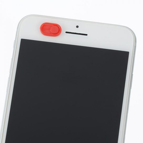 Red front camera cover - web camera cover