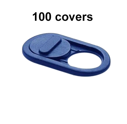 Blue front camera cover 100 piece